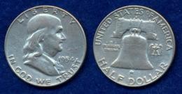 USA 1/2 Dollar 1954 Franklin Ag900 12,5g - Federal Issues