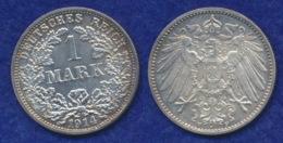 Deutsches Reich 1 Mark 1914F Großer Reichsadler Ag900 - [ 2] 1871-1918: Deutsches Kaiserreich