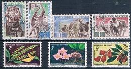Congo , Republica 1966 / 70  -  Yvert Yvert 190 / 192 + 193 + 269 + 270 + 271  ( Usados ) - Congo - Brazzaville