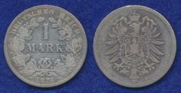 Deutsches Reich 1 Mark 1876H Kleiner Reichsadler Ag900 - [ 2] 1871-1918: Deutsches Kaiserreich