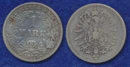 Deutsches Reich 1 Mark 1875G Kleiner Reichsadler Ag900 - [ 2] 1871-1918: Deutsches Kaiserreich