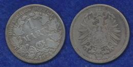 Deutsches Reich 1 Mark 1874A Kleiner Reichsadler Ag900 - [ 2] 1871-1918: Deutsches Kaiserreich
