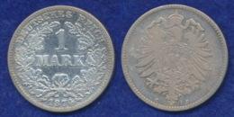 Deutsches Reich 1 Mark 1874C Kleiner Reichsadler Ag900 - [ 2] 1871-1918: Deutsches Kaiserreich