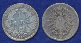 Deutsches Reich 1 Mark 1875D Kleiner Reichsadler Ag900 - [ 2] 1871-1918: Deutsches Kaiserreich