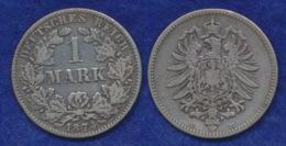 Deutsches Reich 1 Mark 1874E Kleiner Reichsadler Ag900 - [ 2] 1871-1918: Deutsches Kaiserreich