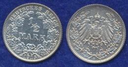 Deutsches Reich 1/2 Mark 1915E Reichsadler Ag900 - [ 2] 1871-1918: Deutsches Kaiserreich