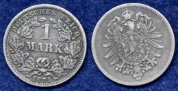 Deutsches Reich 1 Mark 1875G Reichsadler Ag900 - [ 2] 1871-1918: Deutsches Kaiserreich