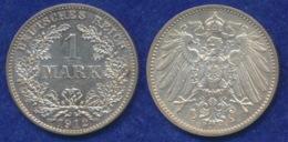 Deutsches Reich 1 Mark 1912E Großer Reichsadler Ag900 - [ 2] 1871-1918: Deutsches Kaiserreich