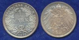 Deutsches Reich 1 Mark 1915D Großer Reichsadler Ag900 - [ 2] 1871-1918: Deutsches Kaiserreich