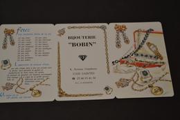 Mini Calendrier 1998 Bijouterie BOBIN - Calendriers