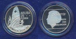 Aruba 25 Florin 1992 Surfer Ag925 25g - [ 4] Kolonien
