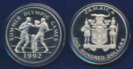 Jamaica 100 Dollar 1992 Boxer Ag925-138,1g - Jamaica