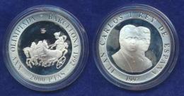 Spanien 2000 Pesetas 1992 Antiker Pferdewagen Ag925 27g - [5] 1949-…: Monarchie