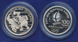 Frankreich 100 Franc 1991 Eishockey Ag900 12,2g - Gedenkmünzen