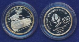 Frankreich 100 Franc 1990 Bob Ag900 12,2g - Gedenkmünzen