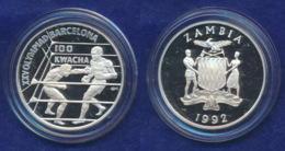 Sambia 100 Kwacha 1992 Boxen Ag925 28,3g - Zambie