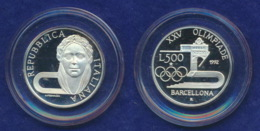 Italien 500 Lire 1992 Kopfbild Ag835 15g - Gedenkmünzen