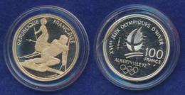 Frankreich 100 Franc 1990 Slalom Ag900 12,2g - Gedenkmünzen