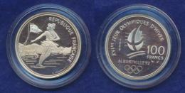 Frankreich 100 Franc 1989 Eistanz Ag900 12,2g - Gedenkmünzen