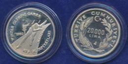 Türkei 20000 Lira 1992 Eisschnelllauf Ag925 23,3g - Türkei