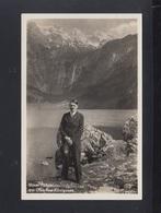 Dt. Reich AK Hitler Am Obersee-Königssee 1937 Gelaufen - Historische Figuren