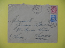 Lettre Cachet Poste  Rurale Languimberg     1947  Moselle - France