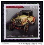 ANDORRA FRANCESA 2014 - AUTOMOVIL - LA HISPANO GUADALAJARA DE 1917  - 1 SELLO - Andorra Francesa