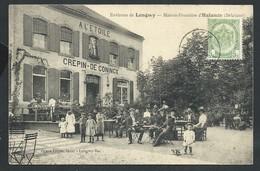 +++ CPA - Environs De Longwy - Maison Frontière D' HALANZY Belgique - Café -Terrasse Animée   // - Aubange