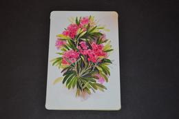 Mini Calendrier 1996 Bijouterie BOBIN Fleurs Laurier Rose - Petit Format : 1991-00