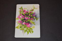 Mini Calendrier 1996 Bijouterie BOBIN Fleurs Fuschias - Calendriers
