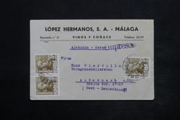 ESPAGNE - Enveloppe Commerciale De Malaga Pour L 'Allemagne , Affranchissement Plaisant - L 25051 - 1931-50 Briefe U. Dokumente