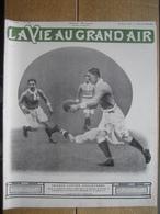 1910 RUGBY : FRANCE ANGLETERRE/ROUGIER AU DESSUS DE LA MEDITERRANEE/FARMAN RECORD VOL AVEC PASSAGERS - Livres, BD, Revues