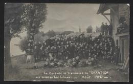 SWITZERLAND - Geneva -  La Colonie De Vacances Du Chantier Lac Léman , 1912. - Vintage Photo Postcard (APAT2-255) - GE Genève