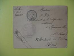 Lettre Cachet Bureau De Distribution   Mont-Saxonnex     1909   Haute  Savoie - France