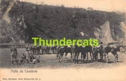 CPA ARMEE BELGE HALTE DE CAVALERIE NELS SERIE MANOEUVRES NO 2 - Regimenten