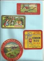 70 - Haute Saone  - Frasne - Orsat -Perrette   - Lot De 4  étiquettes Fromage - Déco Cuisine -Réf.33 - Publicités