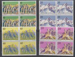 Liechtenstein 1990 Berge III 4v Bl Of 4 ** Mnh (42150) - Liechtenstein