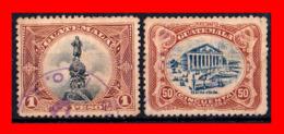GUATEMALA (AMERICA DEL NORTE) 2 SELLOS AÑO 1902 SÍMBOLOS NACIONALES. - Guatemala