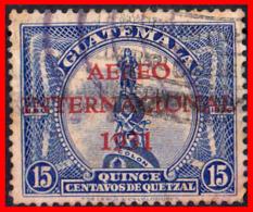 GUATEMALA (AMERICA DEL NORTE) SELLO AÑO 1931 SELLOS DE 1929 SOBRECARGADOS - Guatemala
