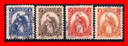GUATEMALA (AMERICA DEL NORTE) 4 SELLO AÑO 1987 QUETZAL. TIPOS DE 1954 - Guatemala