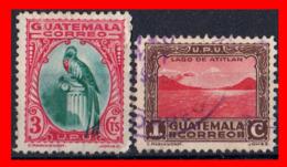 GUATEMALA (AMERICA DEL NORTE) 2 SELLO AÑO 1935DIFERENTES SERIE DE USO CORRIENTE. - Guatemala
