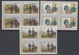 Liechtenstein 1991 Militärkontingents 3v Bl Of 4 ** Mnh (42150A) - Liechtenstein