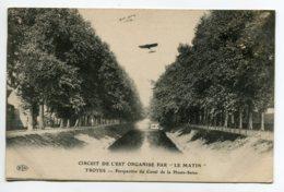 """10 TROYES Aviation Circuit De L'Est Par Journal """" Le Matin """" Avion Au Dessus Du Canal Haute Seine   écrite 19  D04 2019 - Troyes"""