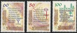 Liechtenstein 1993 Poems By Rilke, Friedrich And Schröder, Chriistmas 3 Values MNH - Langues
