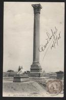 EGYPT - Alexandria, Pompey's Pillar, 1908. - VINTAGE PHOTO POSTCARD - (APAT2-237) - Alexandria