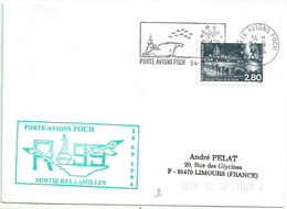 Secap Du Porte-avions Foch - Sortie Des Familles - Sur YT 2892 Pays De La Saulx - Postmark Collection (Covers)
