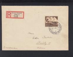 Dt. Reich Dienstpost Böhmen Mähren R-Brief 1943 - Occupation 1938-45