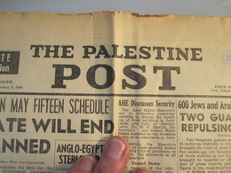 ISRAEL PALESTINE SEMIRAMIS HOTEL JERUSALEM BOMB TERROR ATTACK 1948 NEWSPAPER ADVERTISING SPANISH CONSUL DEATH ORIGINAL - Advertising
