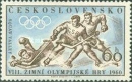 USED STAMPS Czechoslovakia - Winter Olympic Games - Squaw Valley, USA- 1960 - Czechoslovakia