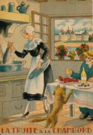 Illustrateur Jean Paris, Nos Plats Régionaux : La Truite à La Chambord (1946) M. Barré & J. Dayez, 1417 V, Recette - Other Illustrators